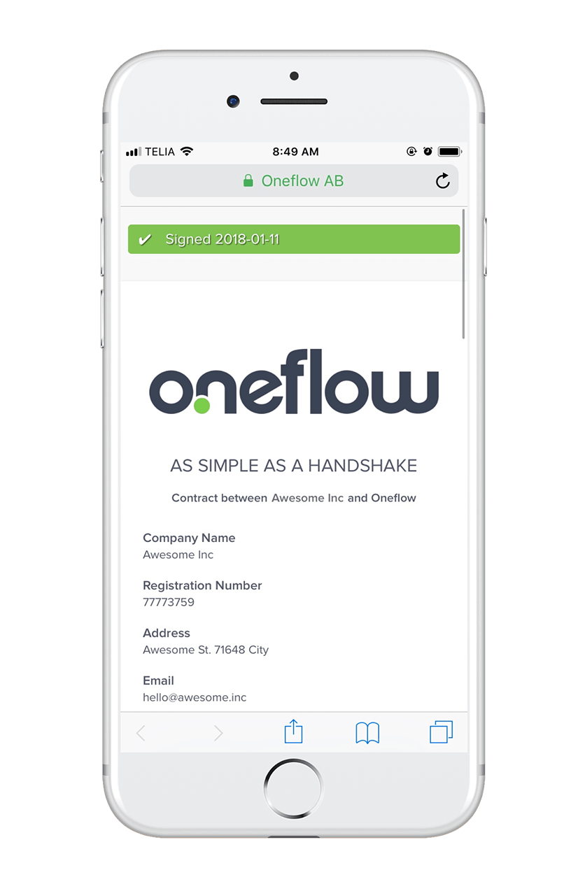 Esign Documents Online With Econtracts Oneflow - Create contract online