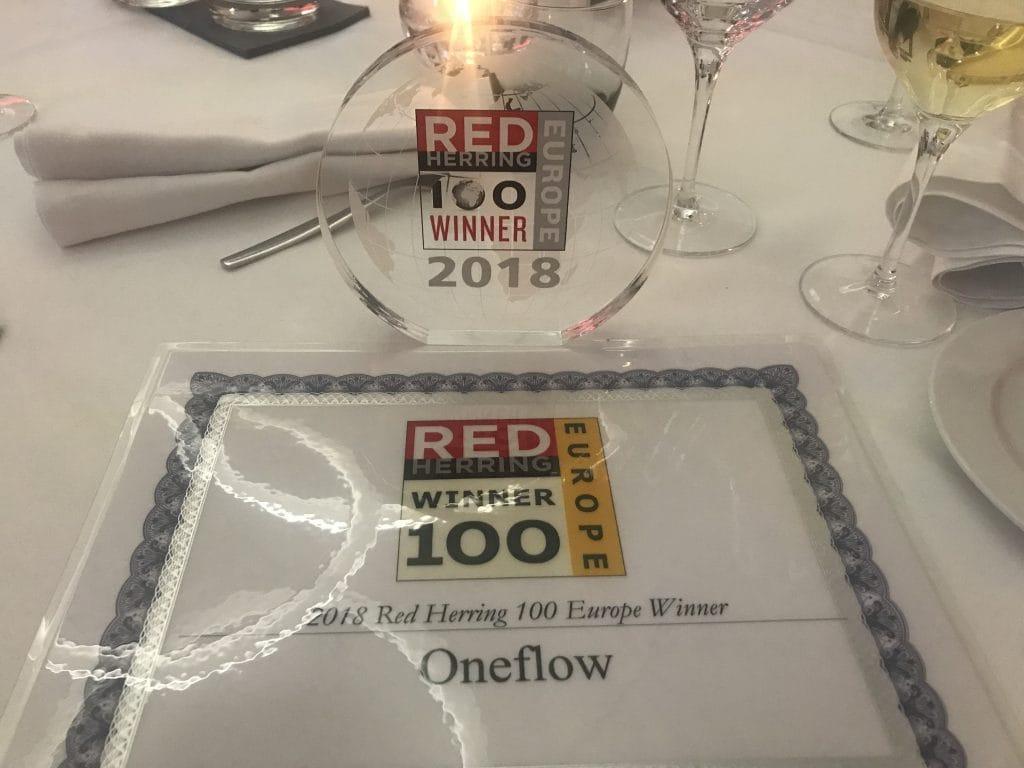 Oneflow is a 2018 Red Herring Top 100 Europe Winner - Oneflow