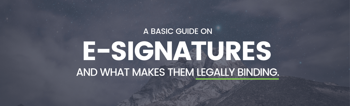 electronic signature basic guide