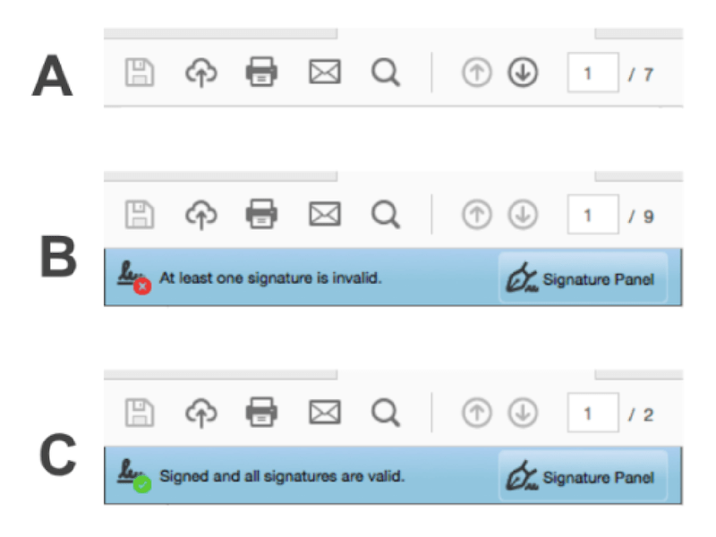 how to check e-signature qualified