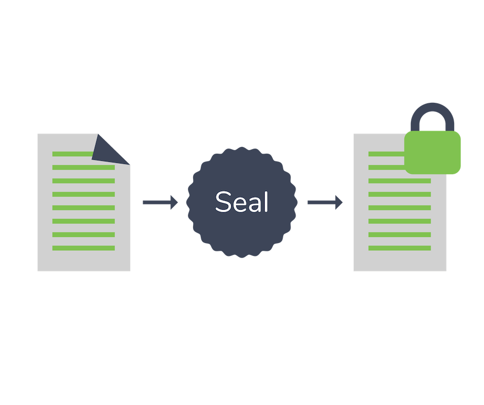 add seal to contract