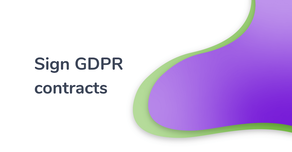 gdpr use case sign contracts
