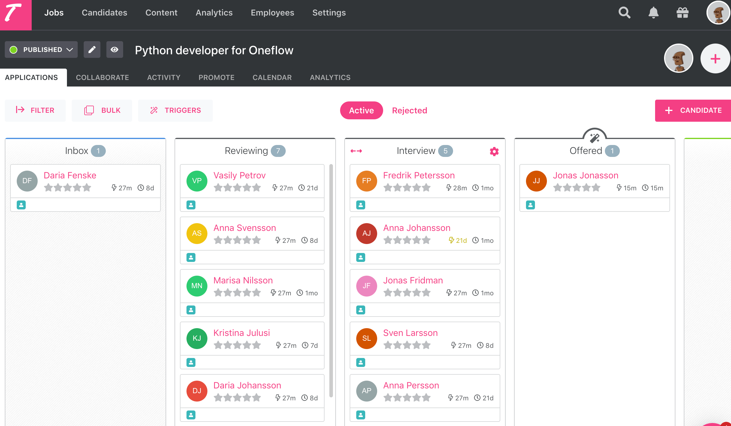 oneflow for teamtailor