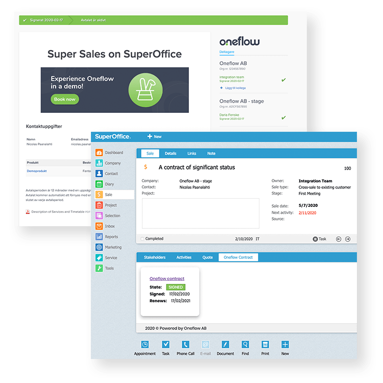 Oneflow for SuperOffice