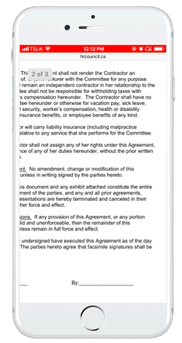 pdf contract on a mobile