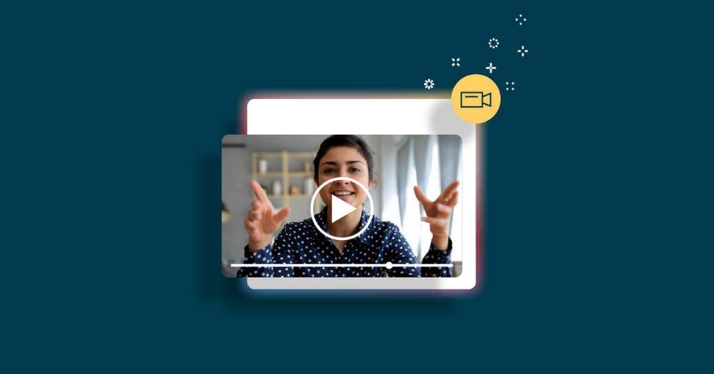 Image showing woman in a remote video call in recruitment process.